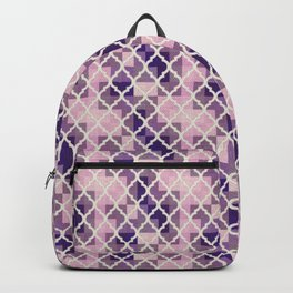 Pink & Purple Quatrfoil Backpack