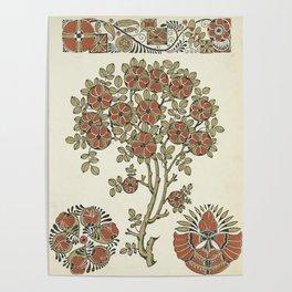 Ornate tree pattern Poster