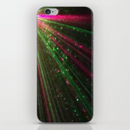 Holiday laser burst iPhone Skin