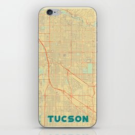 Tucson Map Retro iPhone Skin
