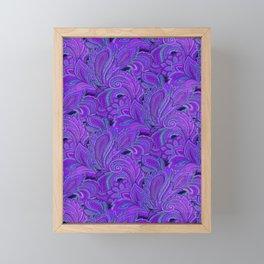 paisley paisley purple Framed Mini Art Print