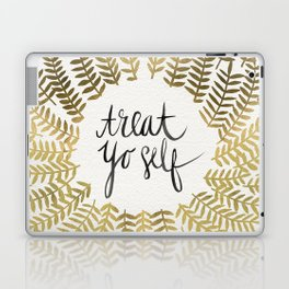 Treat Yo Self – Gold Laptop & iPad Skin
