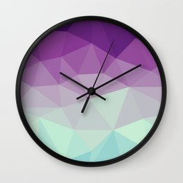 violet and blue polygon Wall Clock