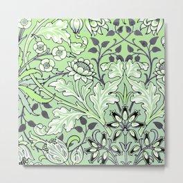Agender Pride Opulent Floral Design Metal Print