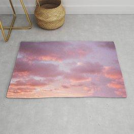 Unicorn Sunset Peach Skyscape Photography Rug