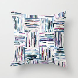 Quilted LINEA Abstract Paper Collage Throw Pillow