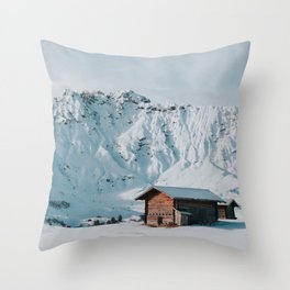 Hello Winter - Landscape and Nature Photography Throw Pillow