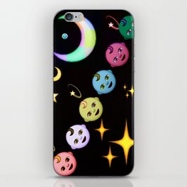 Alien Moon Rainbow Baby iPhone Skin