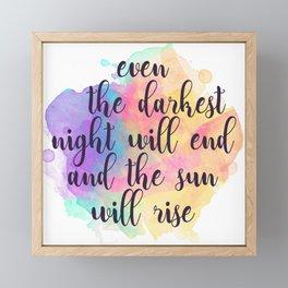 Darkest Night Framed Mini Art Print