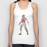 winter soldier Tank Tops featuring Winter Soldier (Bucky Barnes) by MajesticSeahawk Designs