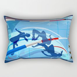 High Jump Rectangular Pillow