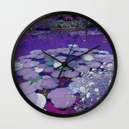 Purple Lake Dreaming Wall Clock