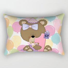 Happy 1st Birthday Little Bear Rectangular Pillow