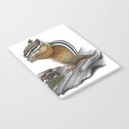 Chipmunk and mushrooms Notebook