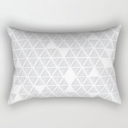 Marble triangles on white Rectangular Pillow