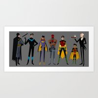 A Bat-Family Affair Art Print