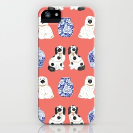 Staffordshire Dogs + Ginger Jars No. 3 iPhone Case