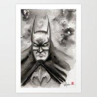 bat Art Prints featuring Bat by rchaem