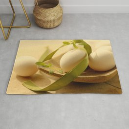 #Fresh #foodie #eggs #Country-#style rustic #kitchen #still life Rug