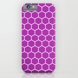 Honeycomb (White & Purple Pattern) iPhone Case