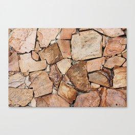 Rough Stone Wall Canvas Print