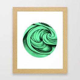 Swirl Circle (green) Framed Art Print