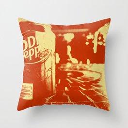 Pop Dr. Pepper Throw Pillow
