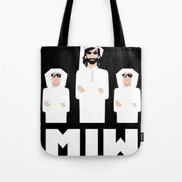 Men in White Tote Bag