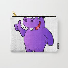 purple hippo Carry-All Pouch