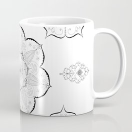 Mandala floral abstract yoga pattern namaste Coffee Mug