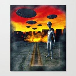 Battlefield Earth - UFO Invasion Canvas Print