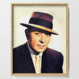 George Raft, Hollywood Legend Serving Tray
