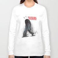 sasquatch Long Sleeve T-shirts featuring Sasquatch by Sergi Ferrando