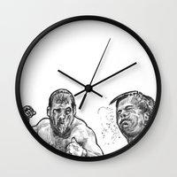 snatch Wall Clocks featuring snatch by BzPortraits