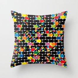 DOTS - polka 1 Throw Pillow
