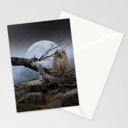 landscape owl Stationery Cards