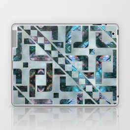 Abstract Geometric Labradorite on Mother of pearl Laptop & iPad Skin