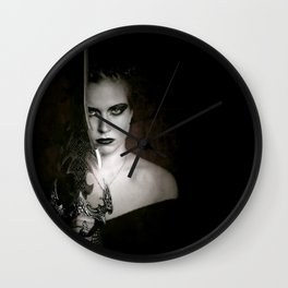 woman with sword fantasy Wall Clock