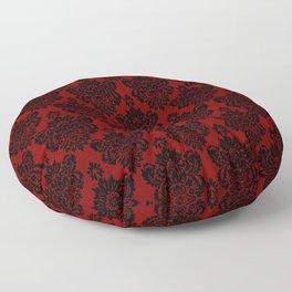 Crimson Damask Floor Pillow