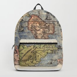 World map wall art 1565 dorm decor Backpack