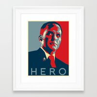 hero Framed Art Prints featuring Hero by Skylofts Merch