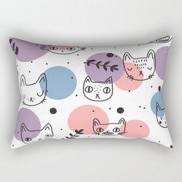 Kitty Faces Rectangular Pillow
