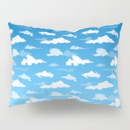 Midday Ombré Sky and Clouds Print Pillow Sham