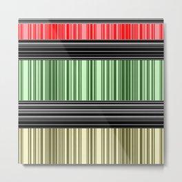 Red-yellow - green stripes. Metal Print