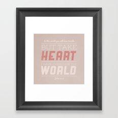 John 16:33 Framed Art Print