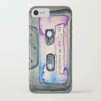 tape iPhone & iPod Cases featuring Mix Tape by Monika Strigel