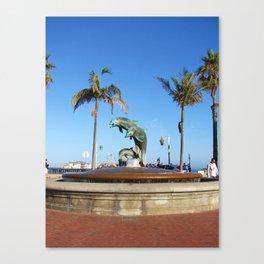 Santa Barbara Dolphins 2504 Canvas Print