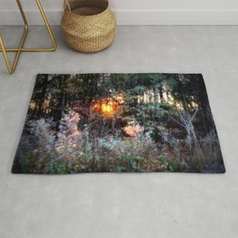 Sunset Forest : Where The Fairies Dwell Rug