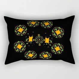 Orange and Green Spaces 120 Rectangular Pillow