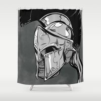 gladiator Shower Curtains featuring GLD by karakalemustadi